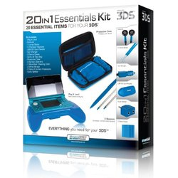 dreamGEAR 20-In-1 Essentials for Nintendo 3DS - Blue