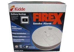 FireX Hardwired 120V Inter Connectable Smoke Alarm with Battery Backup