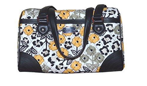 Vera Bradley Caroline Leather Trim Bag Go Wild Black