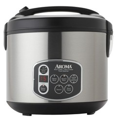 Aroma 20 Cup Digital Rice Cooker - Stainless Steel 560474