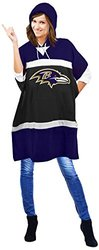 "Littlearth NFL Baltimore Ravens Hoodie Poncho - Purple - Size: 70.5""x32"""
