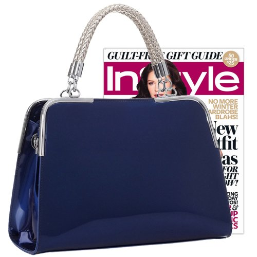 Mg Collection Matana Doctor Tote Purse Navy Blue Size 8 Hx11