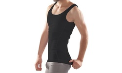 Men's Compression & Body-Support Undershirt - Black - Size: 2XL