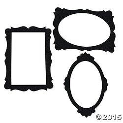 "Fun Express Picture Frame Cutouts 3 Pieces Per Set - Black - 24""x24"""