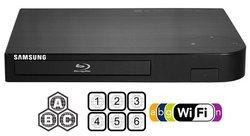 """Samsung Bdf-5700 (compact 12w"""" X 2h"""" X 8d"""") Wi-fi All Zone Multi Region DVD Blu Ray Player - 100~240v 50/60hz, 1 USB, 1 HDMI, 1 Coax, 1 Ethernet + 6 Feet HDMI Cable Bundle"""