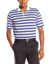Adidas Golf Men's Climacool Sport Stripe Polo Shirt - White - Size: Large