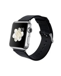 iPM PU Leather Replacement Band For Apple Watch - Black - Size: 38 mm