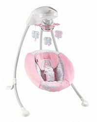 Fisher-Price Pink Petals Cradle ?n Swing