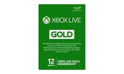 Microsoft 12-Month Xbox Live Gold Membership