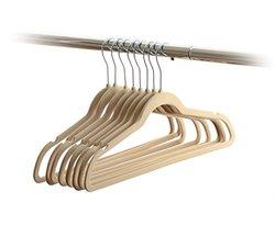 Home-it Ultra Thin No Slip Velvet Clothes Hanger - Pack of 50 - Ivory