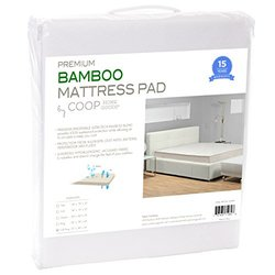 Coop Home Goods Ultra Luxe Bamboo Mattress Pad Protector- White- Sz: Queen