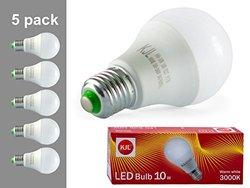 KJL 10W Warm White Incandescent LED Bulb - 5-pack