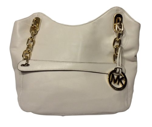 61af01ab3789 ... Michael Kors Women's Ultra Soft Leather Lilly MD Tote - Vanilla ...