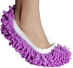 Microfiber Mop Slippers Washable: Purple