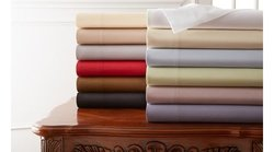 Hotel New York Sheets: Solid/White/Full