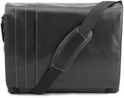 """Kenneth Cole 4"""" Single Gusset Messenger Bag - Black"""