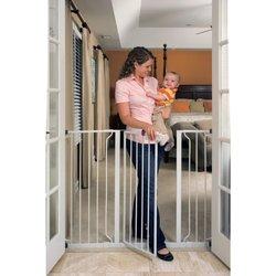 Regalo Extra Tall Widespan Walk Through Safety Gate, White (1154)