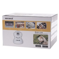 Neewer  Black P2P Plug & Play Wireless Pan & Tilt IP/Network Internet Camera, Surveillance Camera System, Baby Monitor, Pets Monitor, Home Security, Two-Way Audio, Night Vision, Built-in Microphone With Cell Phone Remote Monitoring, Works with:iPh