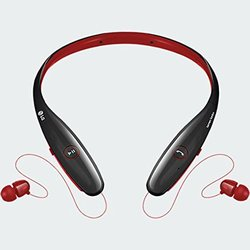 LG Tone Infinim Bluetooth Stereo Headset - Red/Black