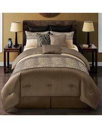 Mali Reversible Comforter Set (9-Piece): Queen