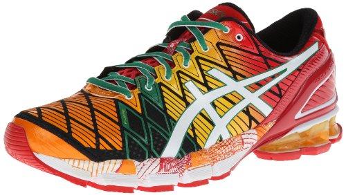 asics gel kinsei 5 mens shoes yellow/white/green