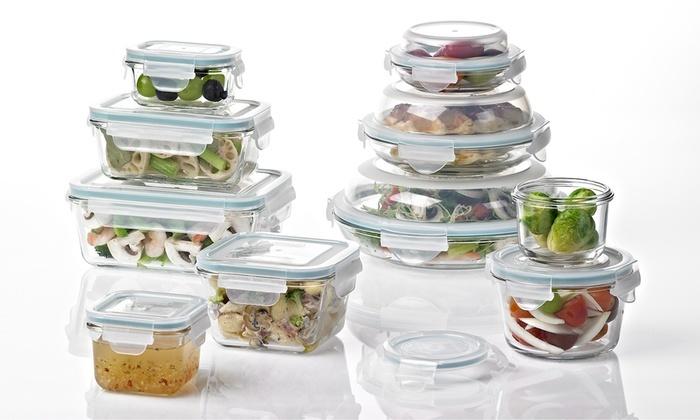 Glasslock Food Storage Container 20 Piece Set   Clear