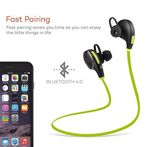 765cd149e7b TaoTronics Bluetooth Headphones Earbuds Headphones - Black/Green ...