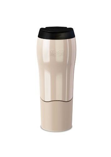 Red Plaid Thermos Travel Mug