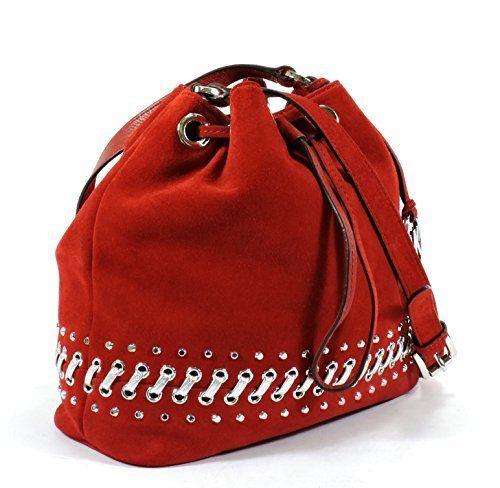 e42868debe5c Michael Hippie Grommet Jule Drawstring Messenger - Dark Red - Size: Medium  ...
