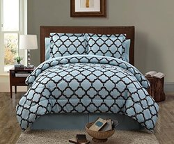 Reversible Comforter Set: Galaxy/blue & Chocolate - King - (8-piece)