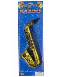 Forum Novelties Gold Saxophone Party Kazoo Play Musical Instrument