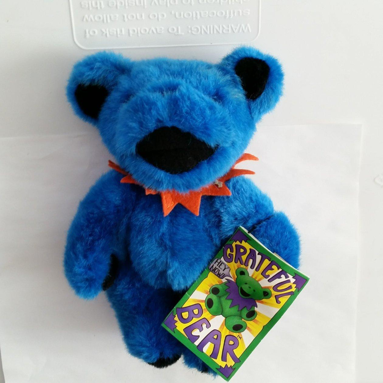 Liquid Blue Vintage Blue with Orange Collar Grateful Dead Plush Bear