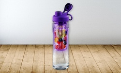 Tritan Water Bottle with Fruit Infuser - 28oz - Purple