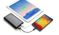Ontek 12000mAh Power Bank w/ Built-in LED Light for Smartphones/Tablets