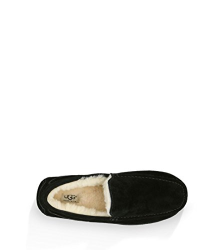 861a1290400 Ugg Australia Ascot Mens Slippers - Black Suede - Size: 12 - Check ...