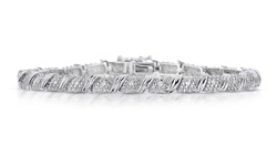 Beauty Gem Unisex 1/4 CTTW Genuine Diamond Bracelet