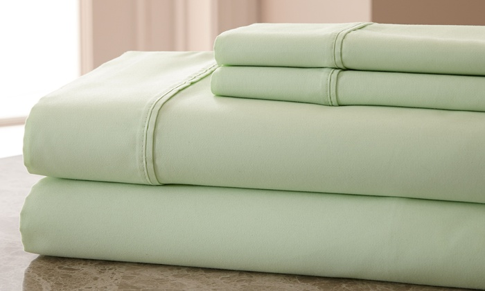 Hotel New York 800tc Egyptian Cotton Blend Sheet Set Sage Size King