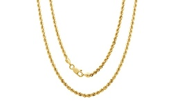 "Regal Jewelry Unisex 18"" 14K Solid Gold Diamond Cut Chain"