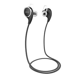 QCY Qy8 [New Version Qy7] V4.1 Wireless Bluetooth Headphones Best In-Ear Noise Cancelling Headphones with Microphone for Running, Sports & Exercise [black]