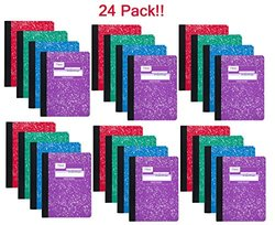 Mead Composition Book 100 Sheets - Assorted Colors - 24 pack