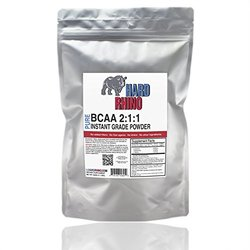 Hard Rhino BCAA 2:1:1 Instantized Powder 500 grams
