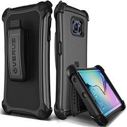 Galaxy S6 Edge Case, Verus [thor Active][dark Silver] - [heavy Duty][belt Clip][kickstand] For Samsung Galaxy S6 Edge