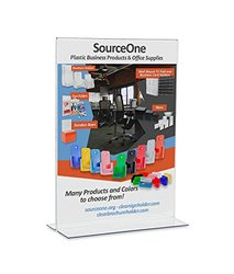 SourceOne LARGE Upright 11 w. x 17 t. Premium Clear Acrylic Sign Holder