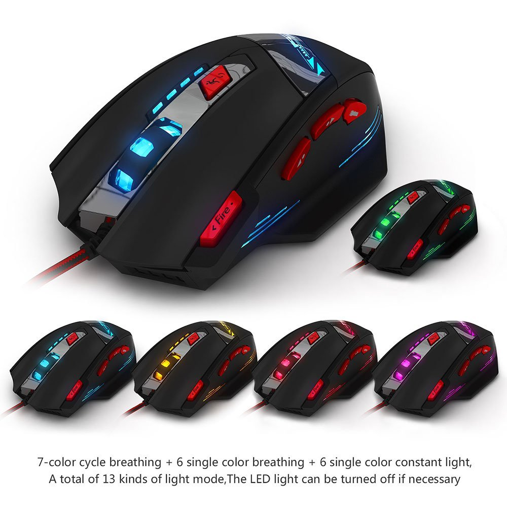 E 3lue T90 Usb Multicolor Led Wired Gaming Mouse Weight Tuning Set Optical Wiring Diagram