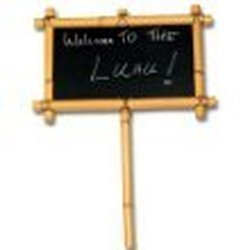 Fun Express Bamboo Chalkboard Party Sign Toy