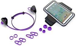 jlab sweatproof bluetooth earbuds w universal armband purple check back soon blinq. Black Bedroom Furniture Sets. Home Design Ideas
