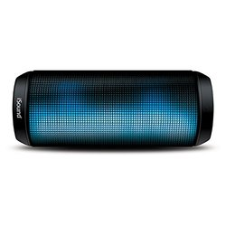 iGlowSound Tower Water Resistant Glowing Speaker - Black (ISOUND-6703)