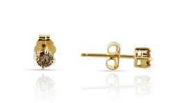 Femme Luxe Women's 1/3 CT Genuine Diamond Stud Earrings - Champagne