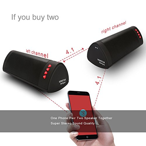 Wireless Speaker Portable Bluetooth Speaker I Venstar Surround Sound Stereo Boombox Duo Buddy Speaker Set With 12 Hour Playtime Battery Life 6w Watt Dual Speakers Ultra Bass Subwoofer Speakers Check Back Soon