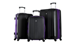 Apache 3-Piece Expandable Spinner Set - Black/Purple